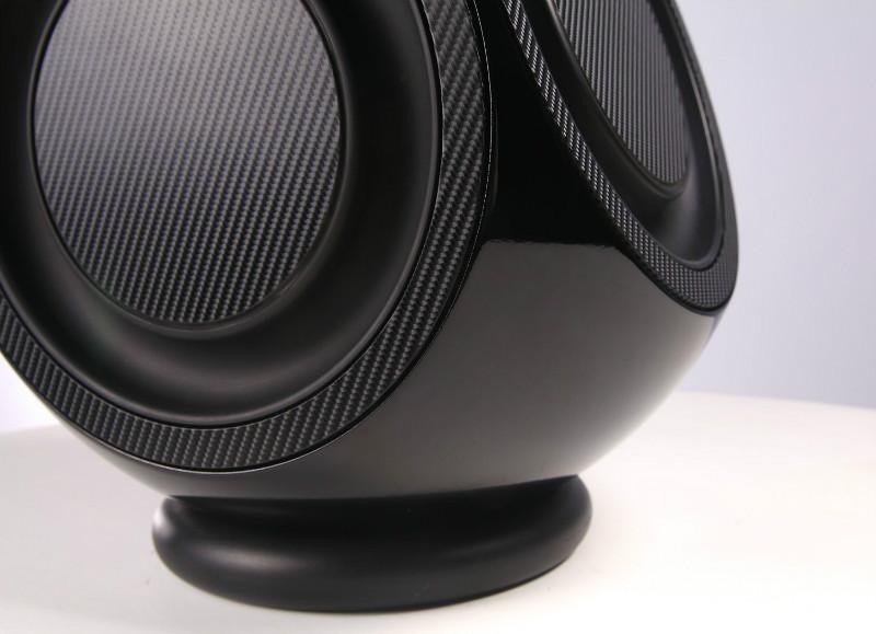 BeoLab 2 Piano Black Carbon Fibre Vinyl Wrap