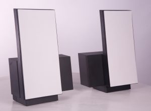 Bang and Olufsen White Speakers