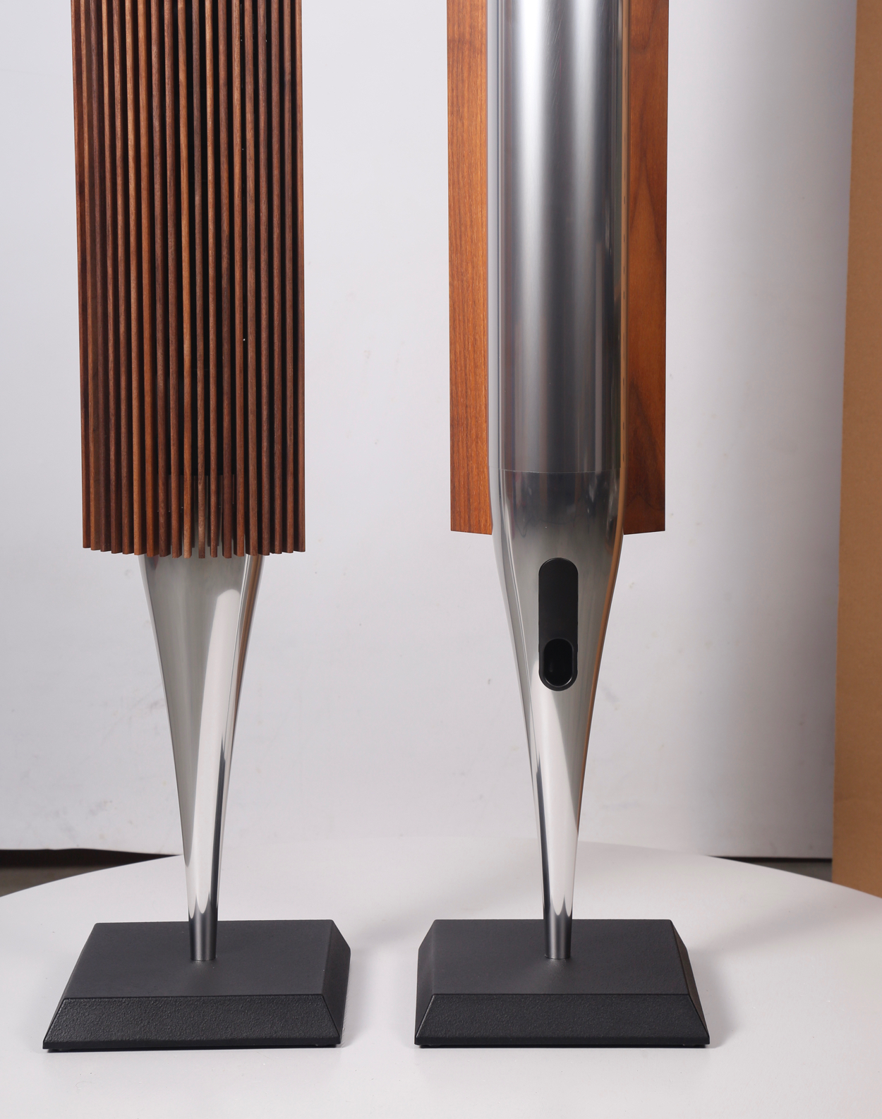 BeoLab 18 silver speakers